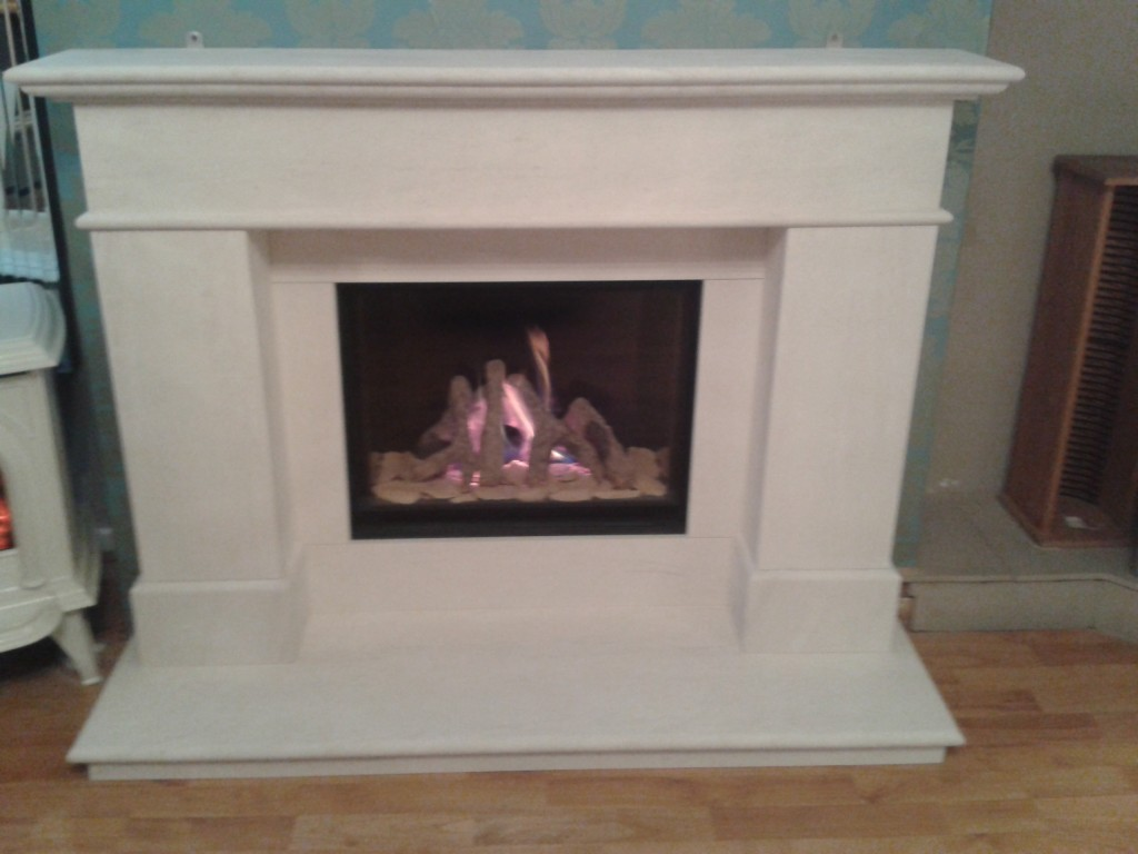 Michael Miller Gas fire and fireplace