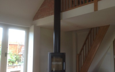 May 2016 - Twinwall with freestanding stove